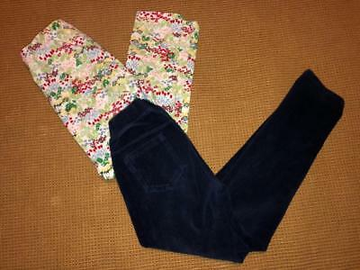 HANNA ANDERSSON~Lot of 2 Girls Leggings~Size 130 (US 8)
