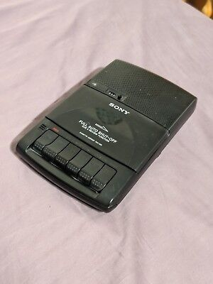 Sony TCM-929 Personal Desktop Cassette Player Recorder Auto Shut Off Cue Review