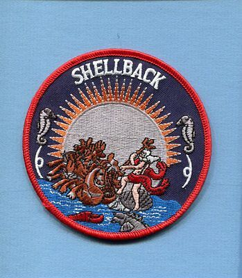 SHELLBACK KING NEPTUNE WOG US NAVY Ship Squadron CROSSING EQUATOR Cruise Patch