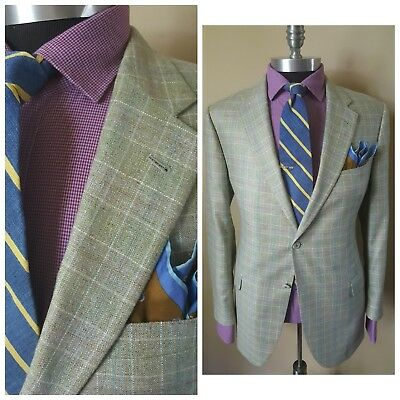 d99467be2419  895 New Coppley Custom Bespoke Quality Modern Plaid Blazer Jacket Mens 44  54