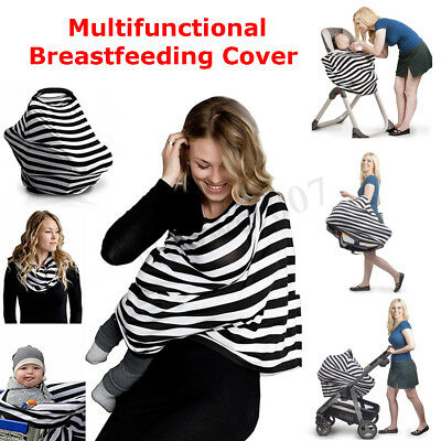 5 in 1 Nursing Breastfeeding Feeding Cover Scarf Baby Car Seat Canopy Shawl new