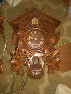 8 day cuckoo clock made in Germany Hunting clock