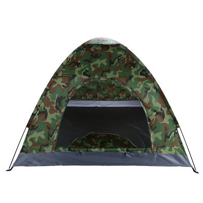 c4d74b9ce9 1-4 Person Outdoor Camping Waterproof Folding Tent Camouflage Hiking  W/Carry Bag