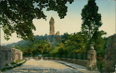 STIRLING Wallace Monument Postcard STIRLINGSHIRE Valentine's Series