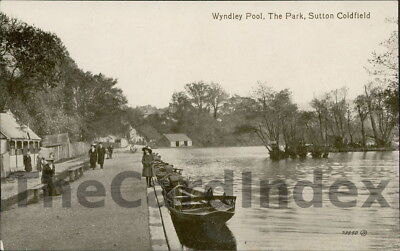 SUTTON COLDFIELD Wyndley Pool Postcard WARWICKSHIRE Valentine's Series