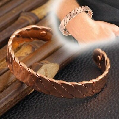 Copper Magnet Health Care Bracelet Magnets Therapy Bangle Arthritis Pain Healing