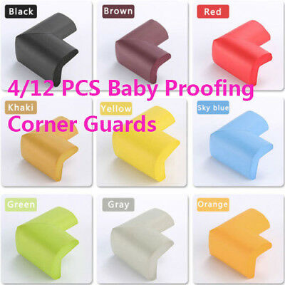 12PCS Baby Safety Edge Desk Table Rubber Foam Furniture Corner Protector Guard