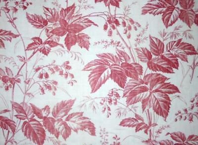 NEW STOCK BEAUTIFUL MID 19th CENTURY FRENCH LINEN COTTON TOILE DE JOUY 8.