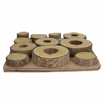 Small Animals Guniea Pigs Boredom Breaker Maze A Log Treat Challenge 30x30cm