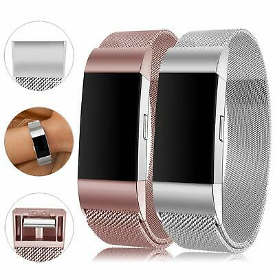 For Fitbit Charge2 Strap Replacement Milanese Band Metal Stainless Steel Magnet