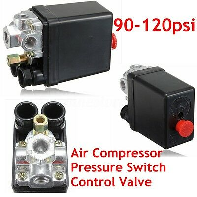 Heavy Duty Air Compressor Pressure Control Switch Valve 175PSI 12 Bar 20A