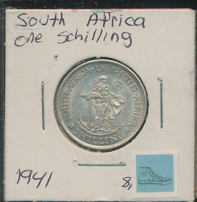 South Africa - 1 Silver Shilling 1941 With Luster