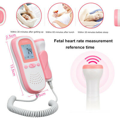 Portable Digital Prenatal Fetal Heart Doppler Monitor Baby Heart Rate Detector