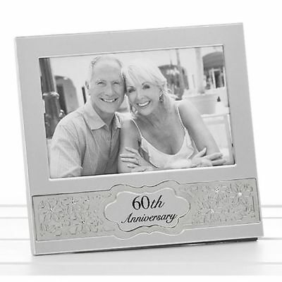 60th Diamond Wedding Anniversary Daisy Photo Frame Gift Box 6 X 4