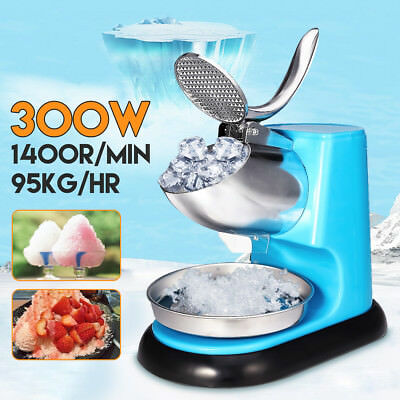 300W Ice Shaver Machine Electric Snow Cone Maker Stainless Steel Shaving