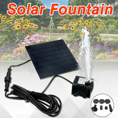 Solar Panel Powered Fountain Garden Pool Pond Submersible Water Pump Set