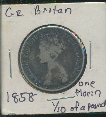 Great Britain - 1858 Gothic Florin - Silver