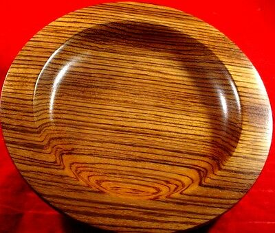 Wooden Zebrawood Bowl Private Stock Unique Nice Figure Heavy -Zz