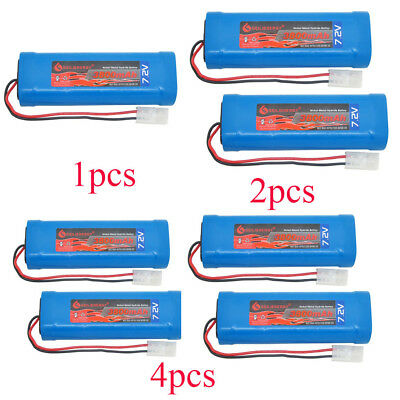 Lots of 7.2V RC Rechargeable Battery pack 3800mah Tamiya Plug For RC Cars Boats
