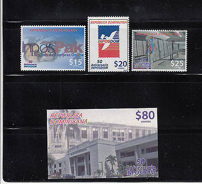 Dominican Republic 2013 Postal Service Sc 1541- 1543  Mint Never Hinged