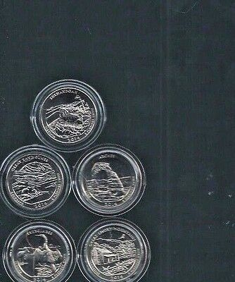 2014-S All 5-Atb Quarters In Air-Tite Holders
