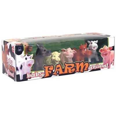 Baby Farm Animal 6 Figure Soft Touch Playset