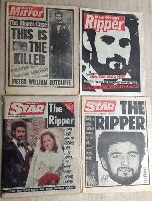 Yorkshire Ripper Peter Sutcliffe Serial Killer NEWSPAPER COLLECTION FREE UK POST