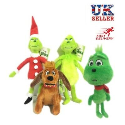 How the Grinch Stole Christmas Stuffed Plush Toy Grinch Kids Xmas Gifts UK stock