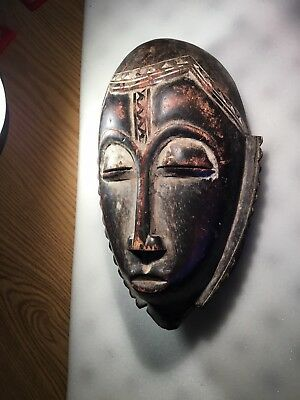 Estate Fresh Old Wood African Mask Good Age And Details No Reserve