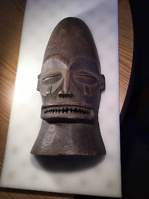 Estate Fresh Unusual Old Wood African Mask Good Age And Details No Reserve