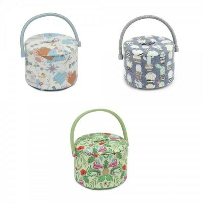 Small Round Sewing Tub Caddy Box Classic Collection Craft Storage Hobbygift