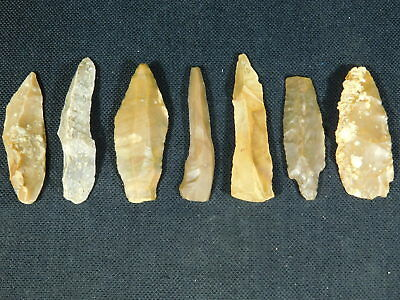 Big Lot of  9,000 to 4,000 Year Old Lithic Artifacts! Bir Gandus Morocco 44.55gr