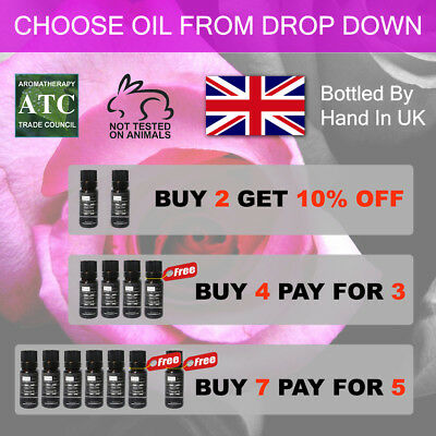 Essential Oils & Carrier Oils 10ml - Aromatherapy - Over 60 different types!