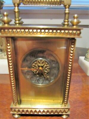 Vintage Carriage Clock Of French Orgin-Clean, Running, Accurate! Time Only