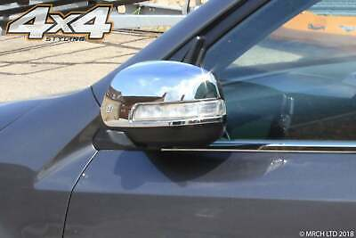 For Kia Sorento 2010 - 2014 Chrome Wing Mirror Cover Trim Set - LED type