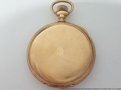 Antique Hunter Case Waltham 16S Pocket Watch YGF 15J to Restore and Fix