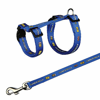 6264 Trixie Nylon Harness With Lead for Guinea Pigs 4 Colours - 21-35cm x 10mm