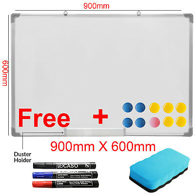 Magnetic Dry Wipe Whiteboard Office School Notice Memo Large White Board Drawing