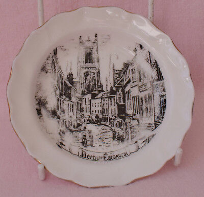 Mercian China Co Ltd Staffordshire Pin Dish Plate Derby Cathedral Old Irongate