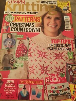 Simply Knitting magazine Issue 165 Alan Dart pattern Elf Tree Trimmers