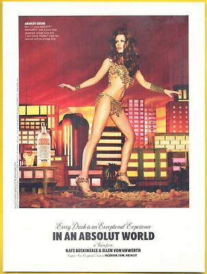 Kate Beckinsale, Actress & Model in 2010 Absolut Vodka Magazine Print Ad
