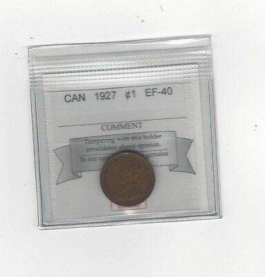 **1927**, Coin Mart Graded Canadian, Small One Cent, **EF-40**