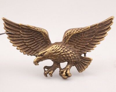 Rare Chinese Bronze Statue Belt Buckles Eagle'S Old Mascot Male Accessorie