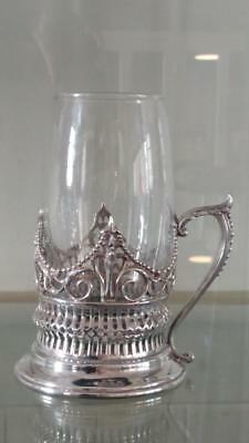 Exquisite Antique John Sherwood Silver Plated Hot Toddy Cup C 1858+