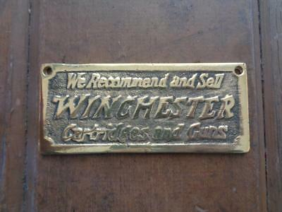 Brass Winchester Cartridges And Guns Store Display Plaque Sign