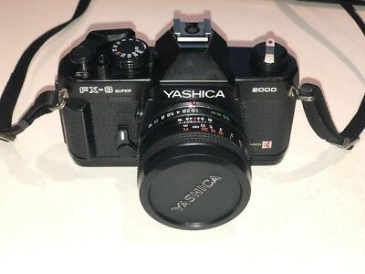 Yashica FX-3 Super 2000 film camera - with yashica 50mm 1.9 2.8