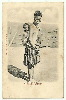 South Africa  postcard Ethnic a Basuto woman