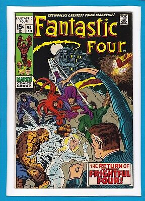 "Fantastic Four #94_January 1970_Vf_""return Of The Frightful 4""_Silver Age!"