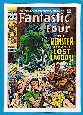"Fantastic Four #97_April 1970_Very Fine+_""the Monster From The Lost Lagoon""!"