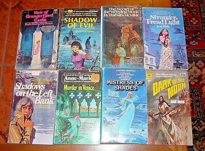 VINTAGE 8 P/B GOTHIC (TYPE) NOVELS by DIFFERENT AUTHORS